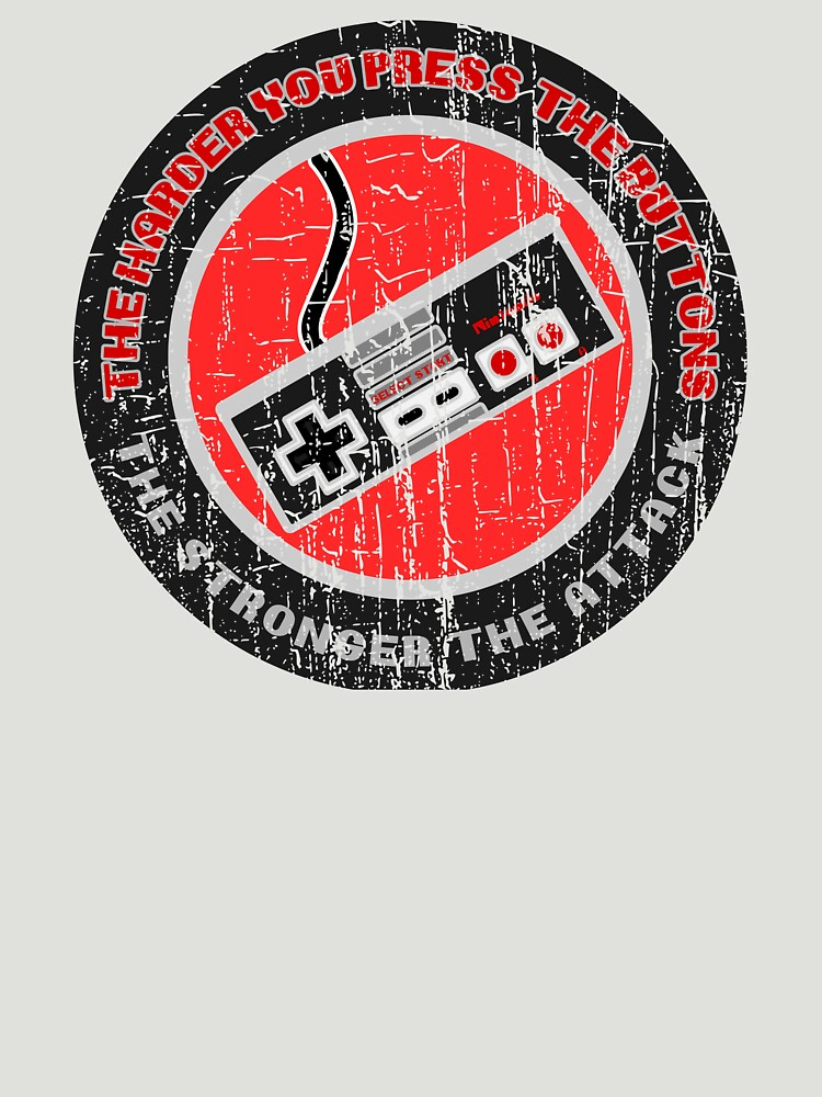 THE HARDER YOU PRESS THE BUTTONS - DISTRESSED RETRO GAMING DESIGN  by NotYourDesign