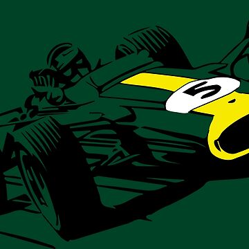 60s Formula One Car on British Racing Green by tfmotorworks