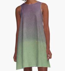 PURPLE GREEN HAZE A-Line Dress