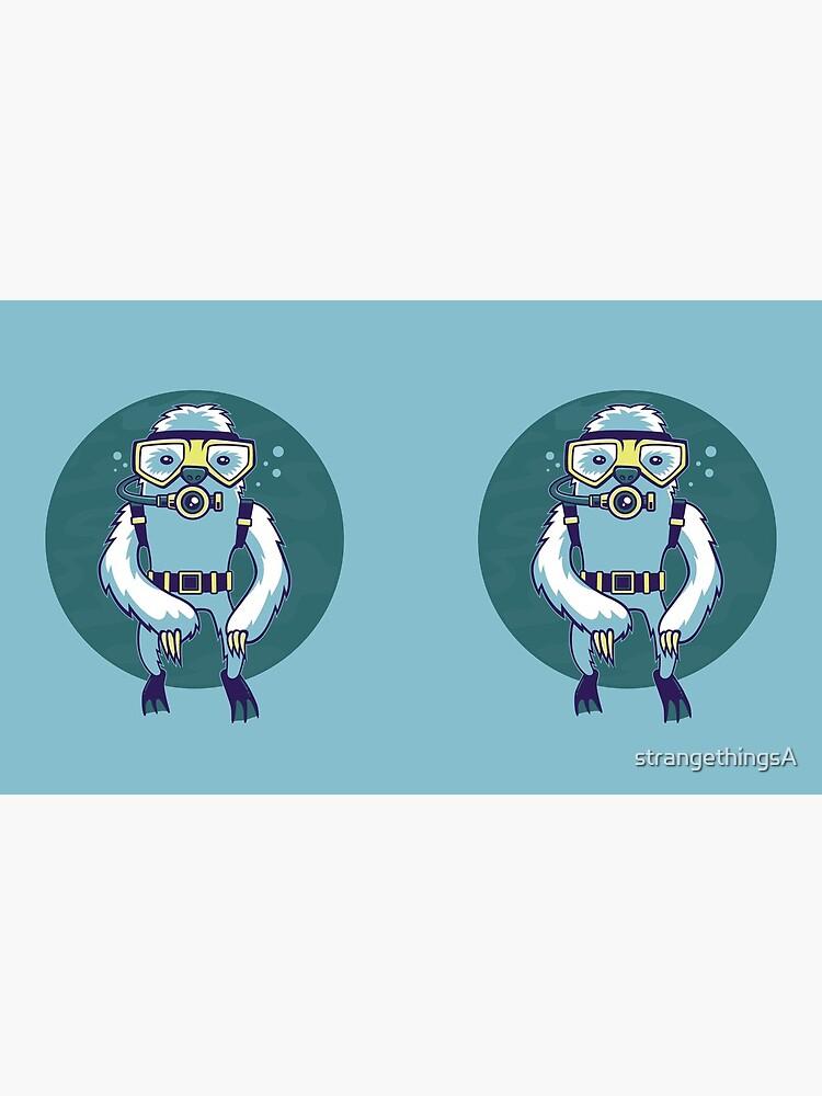 Scuba Sloth by strangethingsA