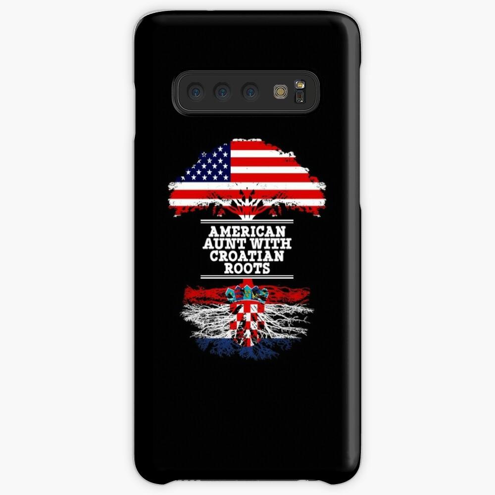 American Aunt With Croatian Roots - Gift For Croatian Aunties Hüllen & Klebefolien für Samsung Galaxy