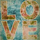 LOVE. said in gold thread by damien carroll
