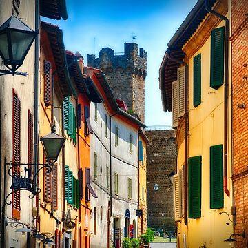 Street in Montalcino  by ozeg