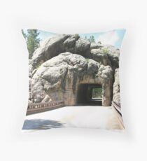 Rock Tunnel Throw Pillow