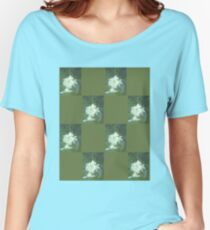 Oleander Series - Checkered Women's Relaxed Fit T-Shirt