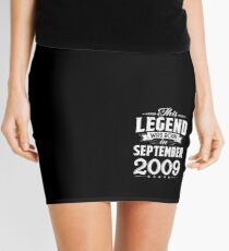 This Legend Was Born In September 2009 9 Year Old Gifts Mini Skirt