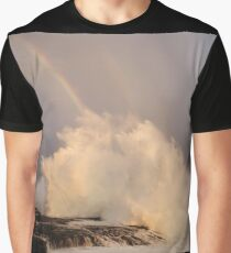 Sunset, Big Surf and a Rainbow Graphic T-Shirt