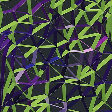 3D Futuristic GEO Lines XIV by tamaya111