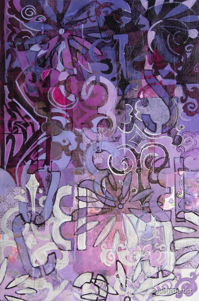 Purple Abstraction by sadeyedartist