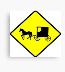 Amish Crossing Sign Canvas Print