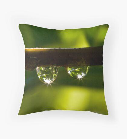 Elder dewdrops Throw Pillow