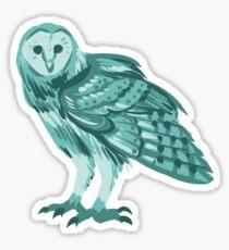 hibou bleu Sticker