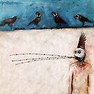 Weird giclee print fine art illustration. Dark fantasy wall art. Sadness and depression. Surreal  by Robert Johnson