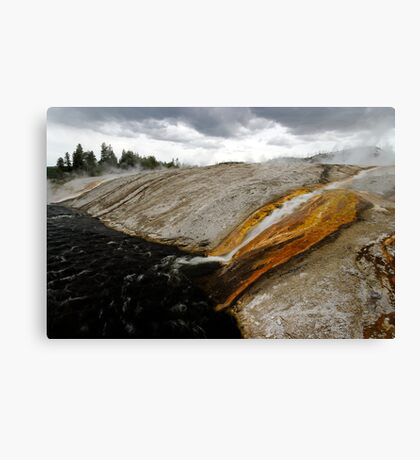 Outflow of Grand Prismatic Spring Canvas Print