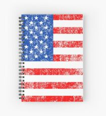 Patriotic American Flag Independence Day Artwork Spiral Notebook