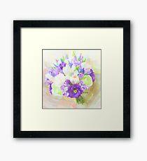 lisianthus purple glory Framed Print