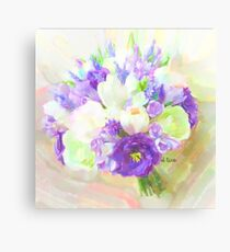 lisianthus purple glory Canvas Print
