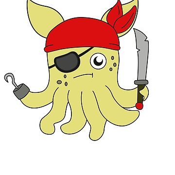 The Small But Adorable Dumbo Octopus Tshirt Design Pirate Dumbo Octopus by Customdesign200