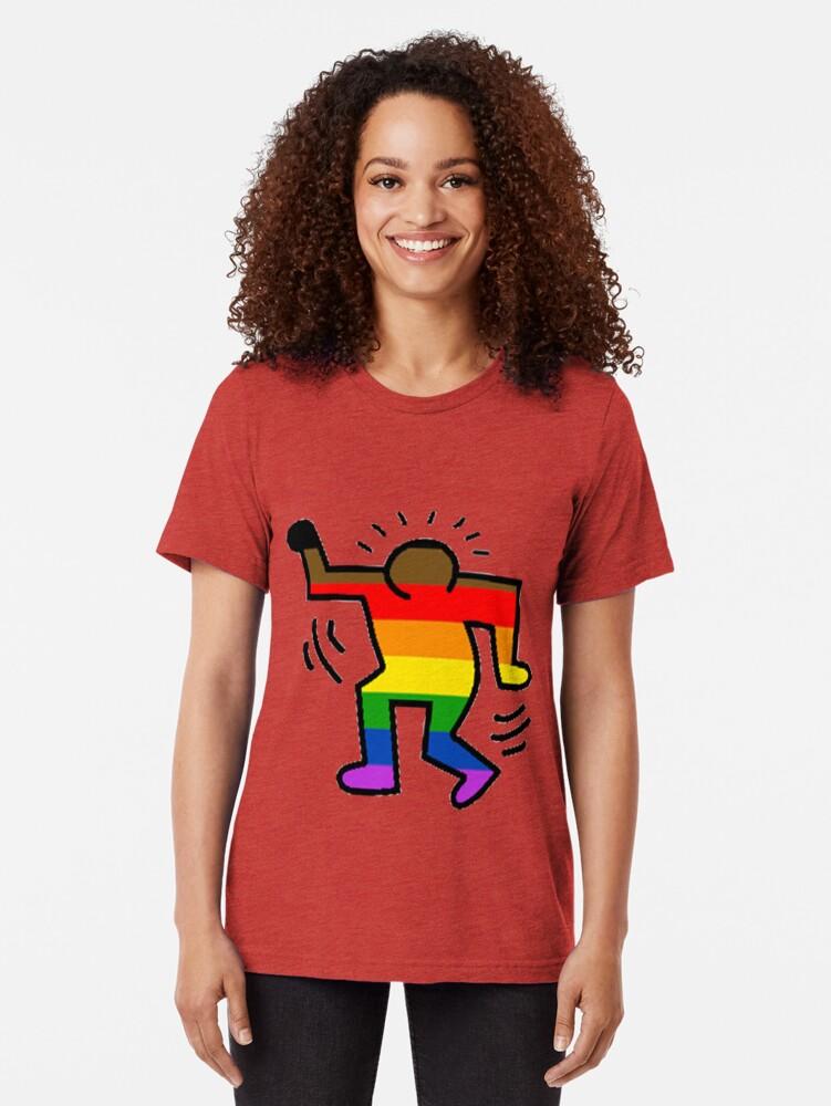 Alternative Ansicht von Keith Haring Homosexuell Vintage T-Shirt
