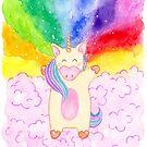 Rainbow Unicorn by Elvedee