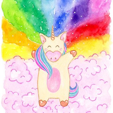 unicornio arcoiris de Elvedee