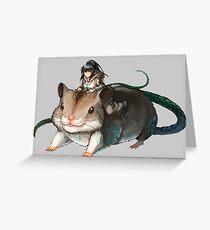 Hamsuke und Narberal Grußkarte