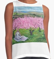 Among the blooming peach trees Contrast Tank