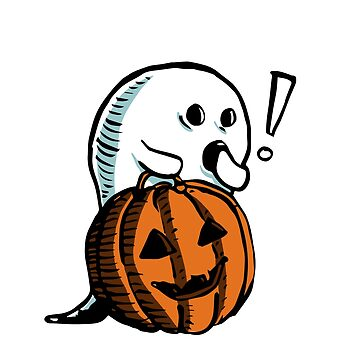 Ghost with pumpkin by BuShirts