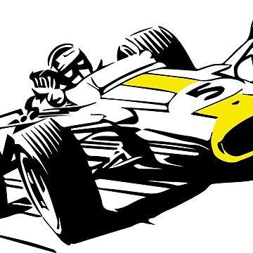 60s Formula One Car on White by tfmotorworks