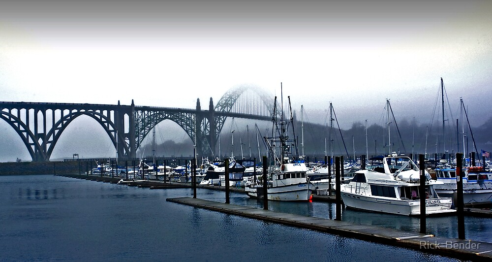 Yaquina Harbor by Rick  Bender