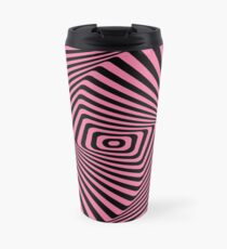 Op-Art Rad Rectangles in Pink Travel Mug