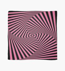 Op-Art Rad Rectangles in Pink Scarf