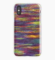 Rainbow Knitted Pattern iPhone Case