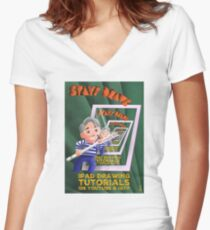 Stayf Draws Art Deco Poster Fitted V-Neck T-Shirt