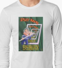 Stayf Draws Art Deco Poster Long Sleeve T-Shirt