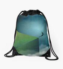 Broken Blue Drawstring Bag