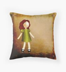 Curious Red-Haired Girl Throw Pillow