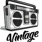 Vintage Hip Hop Boombox Graphic by rda5301