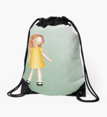 Little Red-Haired Girl Drawstring Bag