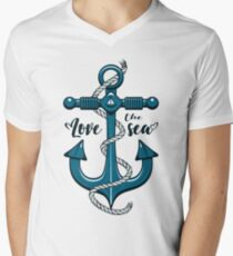 Love the Sea Men's V-Neck T-Shirt