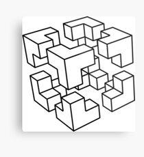 Geek Cube Metal Print