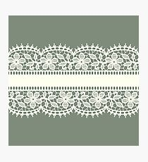 Lace, Seamless Pattern, Flowers. Photographic Print