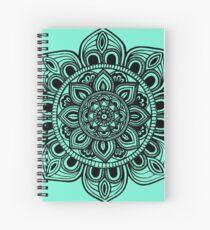 Black Mural Mandala - Art&Deco By Natasha Spiral Notebook