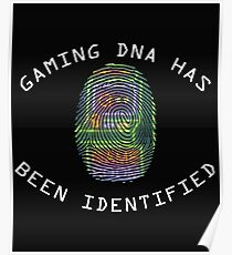 Gaming DNA Retro Funny Geeky  Poster