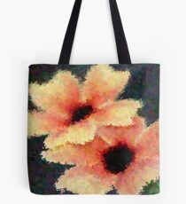 Peach Flower Art Tote Bag
