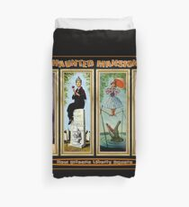 HAUNTED MANSION : Vintage New Orleans Liberty Square Prints. Duvet Cover