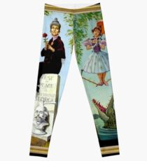 HAUNTED MANSION : Vintage New Orleans Liberty Square Prints. Leggings