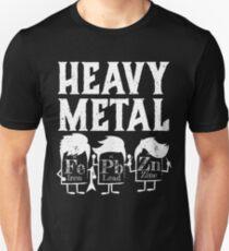 Heavy Metals Funny Wissenschaft Witz Periodensystem Slim Fit T-Shirt