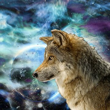 wolf and Planets by ErikaKaisersot