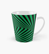 Op-Art Rad Rectangles in Green Mug